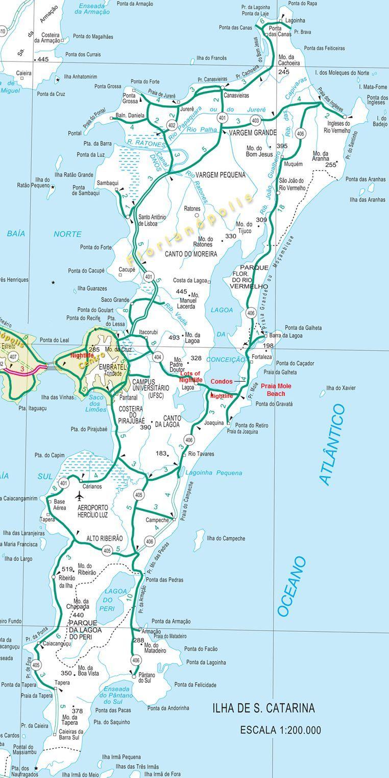Florianopolis Map - Praia map